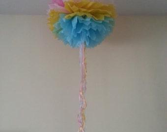 free uk postage rainbow tissue paper pom poms hanging decorations