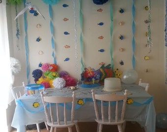 "wedding party baby shower hanging decorations 5 14"" tissue paper pom poms"