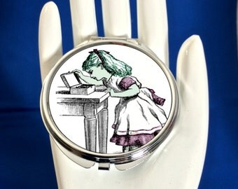 Compact Mirror - Vintage Alice Pink - Can be Personalised