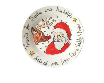 Personalised Santa plate - small