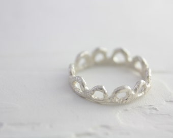 Sterling Silver Flower Ring, Silver Flower Ring, Silver Statement Ring, Handmade Silver Ring, Flower Ring, Dainty Silver Ring, Gift for her