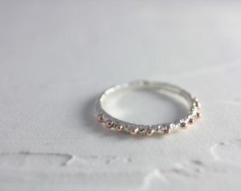 Rose Gold Rain Drop Ring, Sterling Silver Drop Ring, Drop Ring, Silver Ring, Rose Gold Ring, summer, Women, Jewelry, Gift, Spring