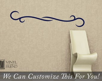 double swirl flourish accents for wall decor a vinyl decal graphic sticker 2245