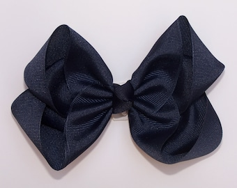 Navy Blue Large Boutique Bow Girls Big Hair Bow Girls Bow Jumbo Bow Navy Blue Hair Bow