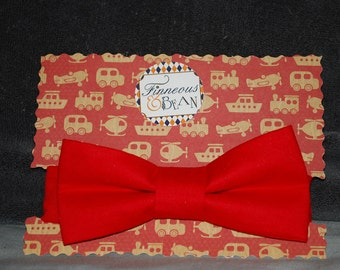 Boy's Bow Tie Solid Red
