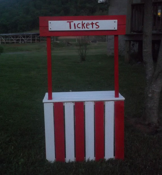 Ticket Booth Carnival booth popcorn stand cotton candy