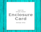Add On One Sided Enclosure Card Design Only Wedding Enclosure Card Wedding Information Card Wedding Hotel Card Wedding Directions Card