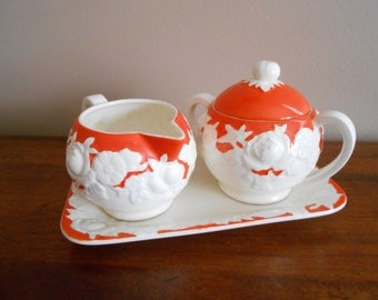 Vintage Cream and Sugar Set