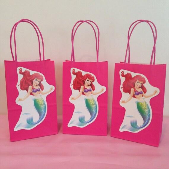 Wedding Favor Ideas Little Mermaid: Items Similar To Little Mermaid/Ariel Party Favor Bags On Etsy