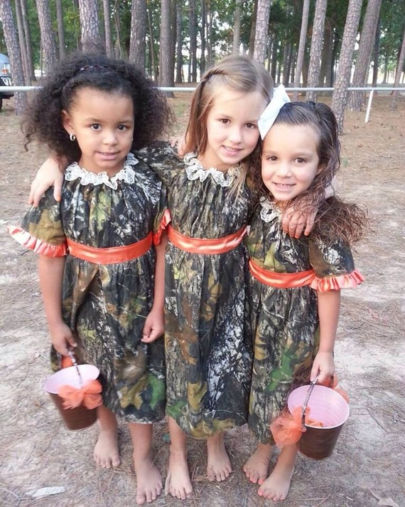 items similar to mossy oak camo flower girl dress on etsy