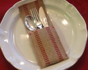 How Jute is this?  Jute Webbing Silverware Holders