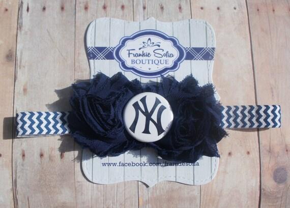 NY Yankees headband Baby HeadbandsNewborn HeadbandShabby