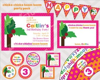 Chicka Chicka Boom Boom Printable Party Pack