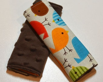 Car Seat Strap Covers - Birds