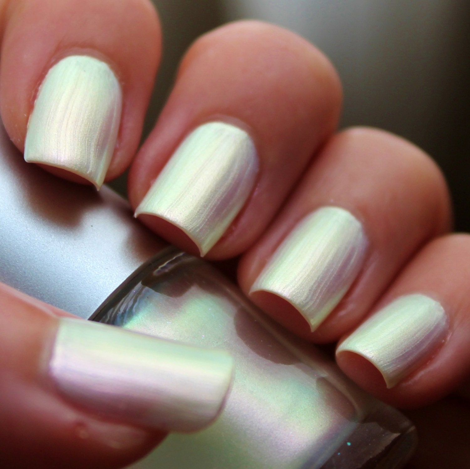 White Opal Franken Nail Polish White Pearl Color With A