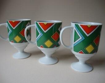 Vintage Pedestal Mugs 3, Japan.