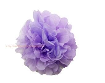 "Lilac Tissue Paper Pom Poms * Medium Tissue Paper Flowers 10"" Decorations for wedding,bridal shower,birthday party,nursery,college dorm"