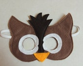 Owl Felt Mask - Perfect for pretend play or as part of a costume