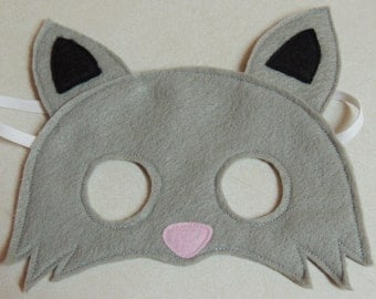 Cat/Kitten Felt Mask - Perfect for pretend play or as part of a costume