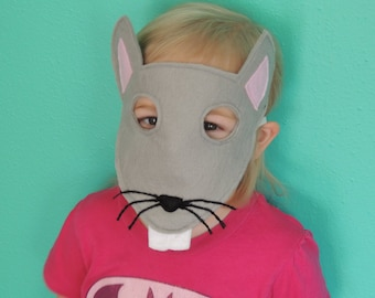 Rat Felt Mask - Perfect for pretend play or as part of a costume