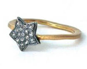VICTORIAN 0.80CT Rose cut Diamond Ring, Free Shipping worldwide