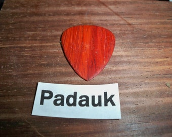 Padauk wood guitar pick