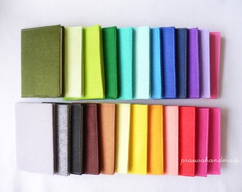 Felt Cover Notebook in A6/A5 greenread plain paper.