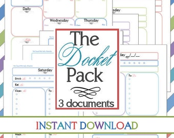The Docket Pack and Calendar (3 documents) INSTANT DOWNLOAD