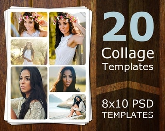 Collage etsy for Senior photo collage templates