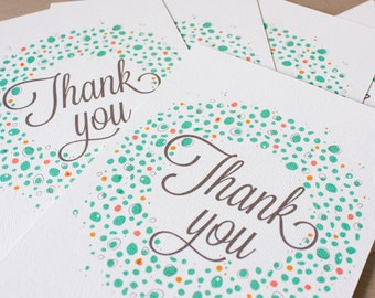 Thank you card pack, 5 thank you cards and envelopes
