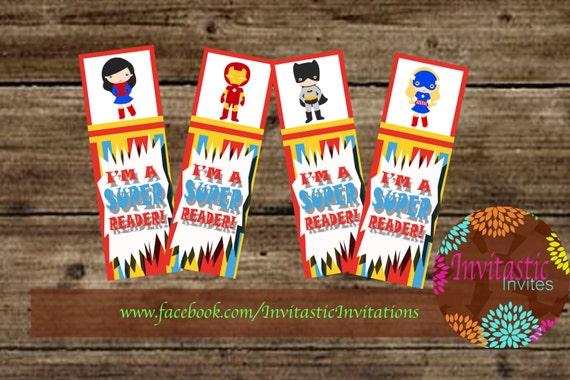 Superhero Classroom Decor Printables ~ Superhero bookmarks classroom decoration teacher supplies