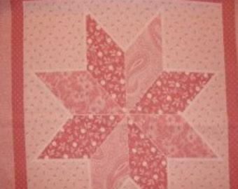 Cranston Print Mauve Star Pillows Fabric Cotton...4 pillows for you to make.