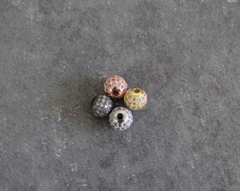 CZ Micro Pave 8mm Round beads