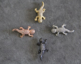 CZ Micro Pave 27mm  Lizard Beads