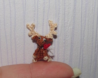 Miniature Moose Dollhouse Reindeer Deer
