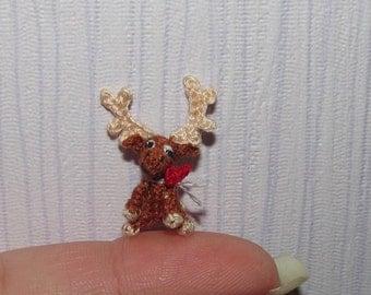 Miniature Moose Dollhouse Reindeer Deer