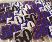 "Number ""50"" Chocolate Lollipops (1 dozen)"