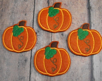 Pumpkin with leaf felties,halloween,felt paper clip, badge reel, felt brooch, felt bookmark, planner clip, felt hair clip, key chain