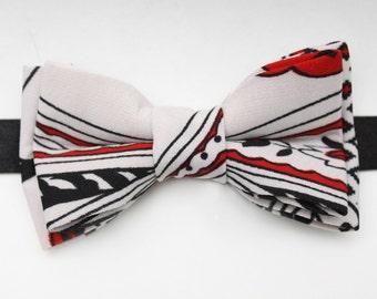 Red, Black, & White Bow Tie