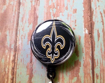 New Orleans Saints retractable badge reel