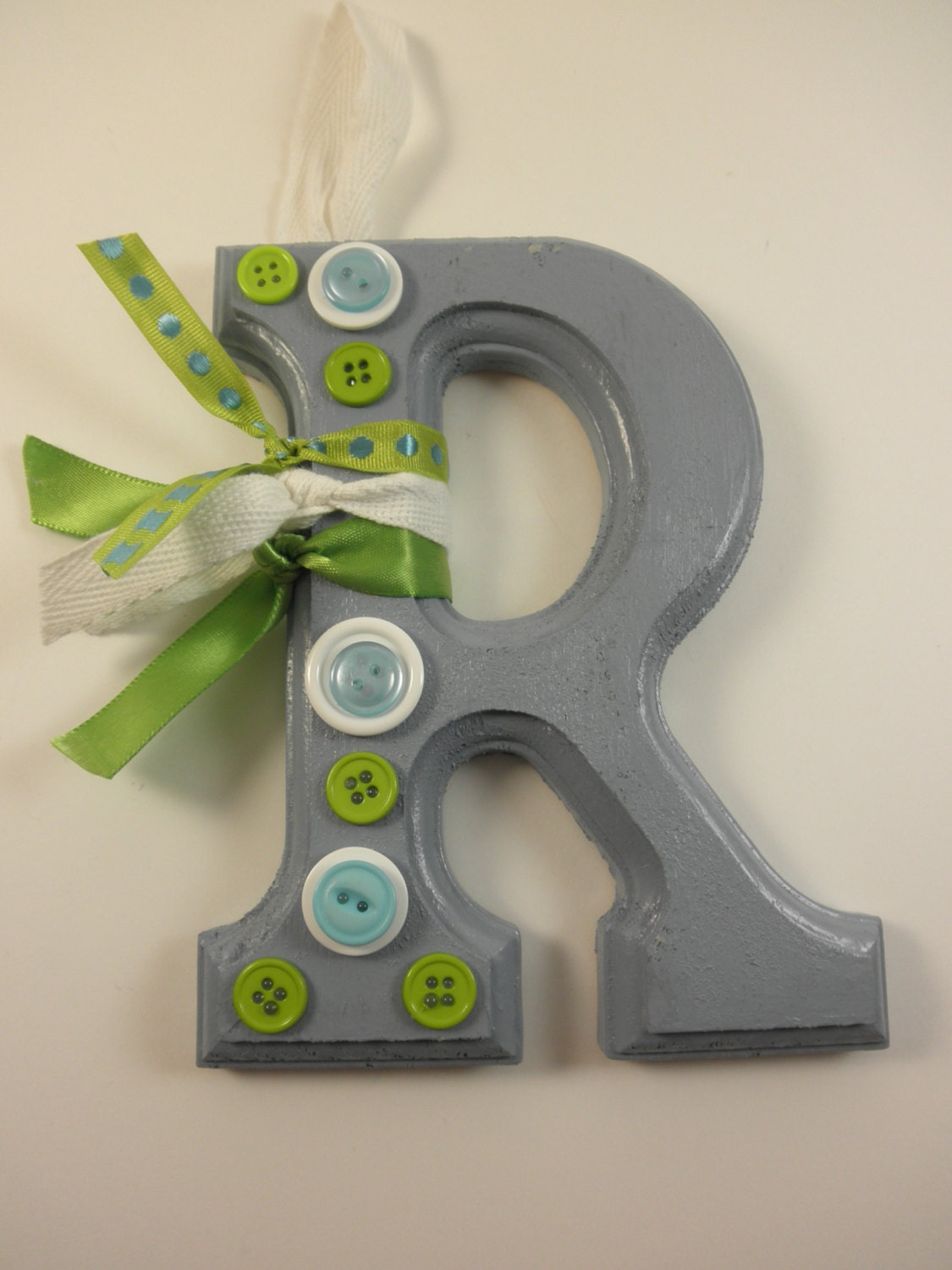 Hanging wood letter r nursery letter baby room decor letter for Babies r us wall letters