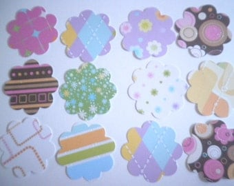 """2"""" Scallop Circle Die Cuts Multicolor set of 100 - perfect for scrapbooking, cards, showers, embellishments"""