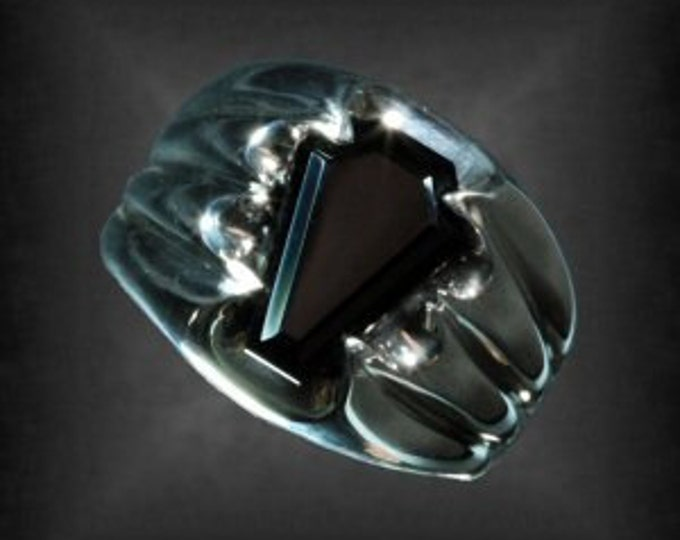 Featured listing image: 5ct Fang Coffin Gem Ring