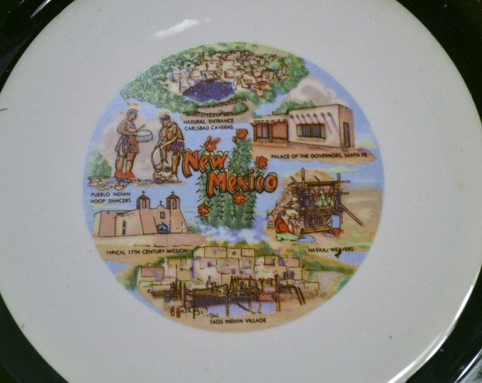 Vintage Souvenir Decorative Plate New Mexico Travel Souvenir Panchosporch
