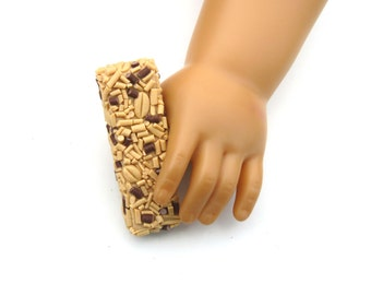 Chocolate Chip Granola Bar - Handmade Gourmet Doll Food For Your American Girl Doll