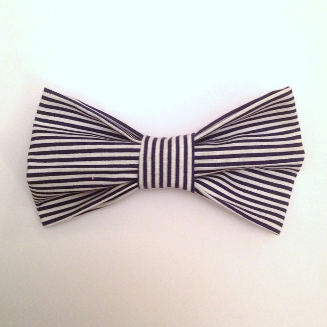 Clip On Bow Tie Black / White Bow Ties For Men By JaxBoutique