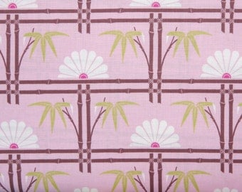 Tanya Whelan fabric Dolce Bamboo Garden fabric TW26 Pink White abstract 100% Cotton fabric by the yard Freespirit quilting sewing