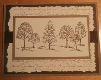Stampin Up Handmade Greeting Card Any Occasion Trees