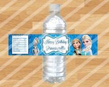 Custom Frozen Water Bottle Wrappers - Customized!
