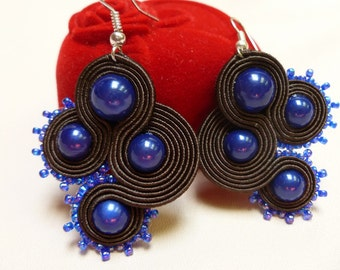 Imagination -soutache earrings
